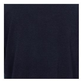 Maglione polo blu in Misto Lana s2