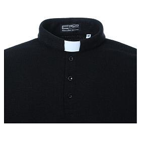 Jersey polo clergy negro de Mixta Lana s4