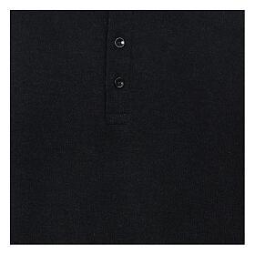 Camisola polo M/L preto em tecido misto lã s2
