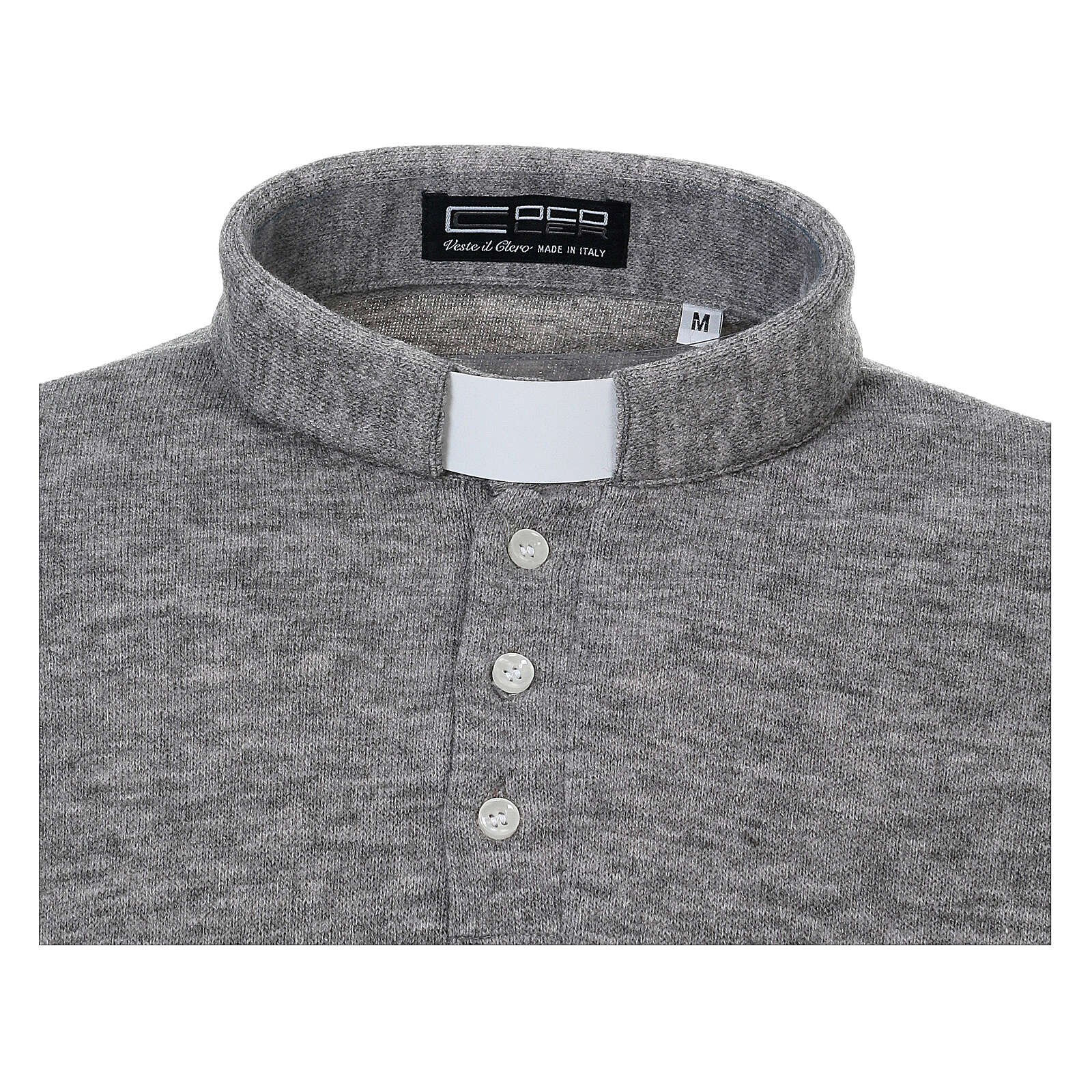 Polo clergy Gris Claro de Mixta Lana 4