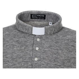 Polo clergy Gris Claro de Mixta Lana s3