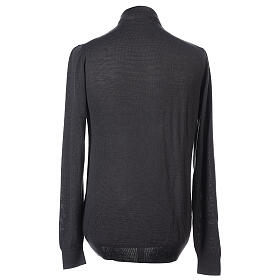 Camiseta Lana Merinos cuello clergy Gris oscuro s4