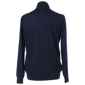 Camiseta Mixto Merino cuello clergy azul s4