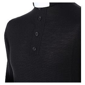 Jersey Merino cuello clergy negro s2