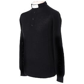 Jersey Merino cuello clergy negro s3