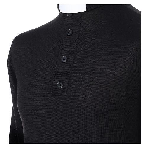 Jersey Merino cuello clergy negro 2