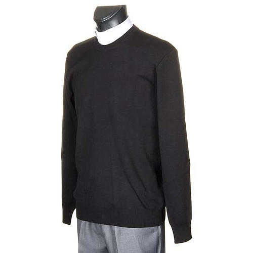 Girocollo lana nero 2