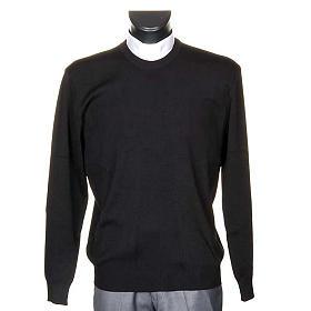 Sweter wełna czarny s1