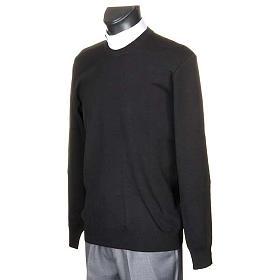 Sweter wełna czarny s2