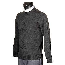 Jersey cuello redondo de lana con un motivo s2