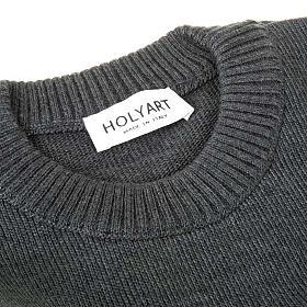 Jersey cuello redondo de lana con un motivo s4