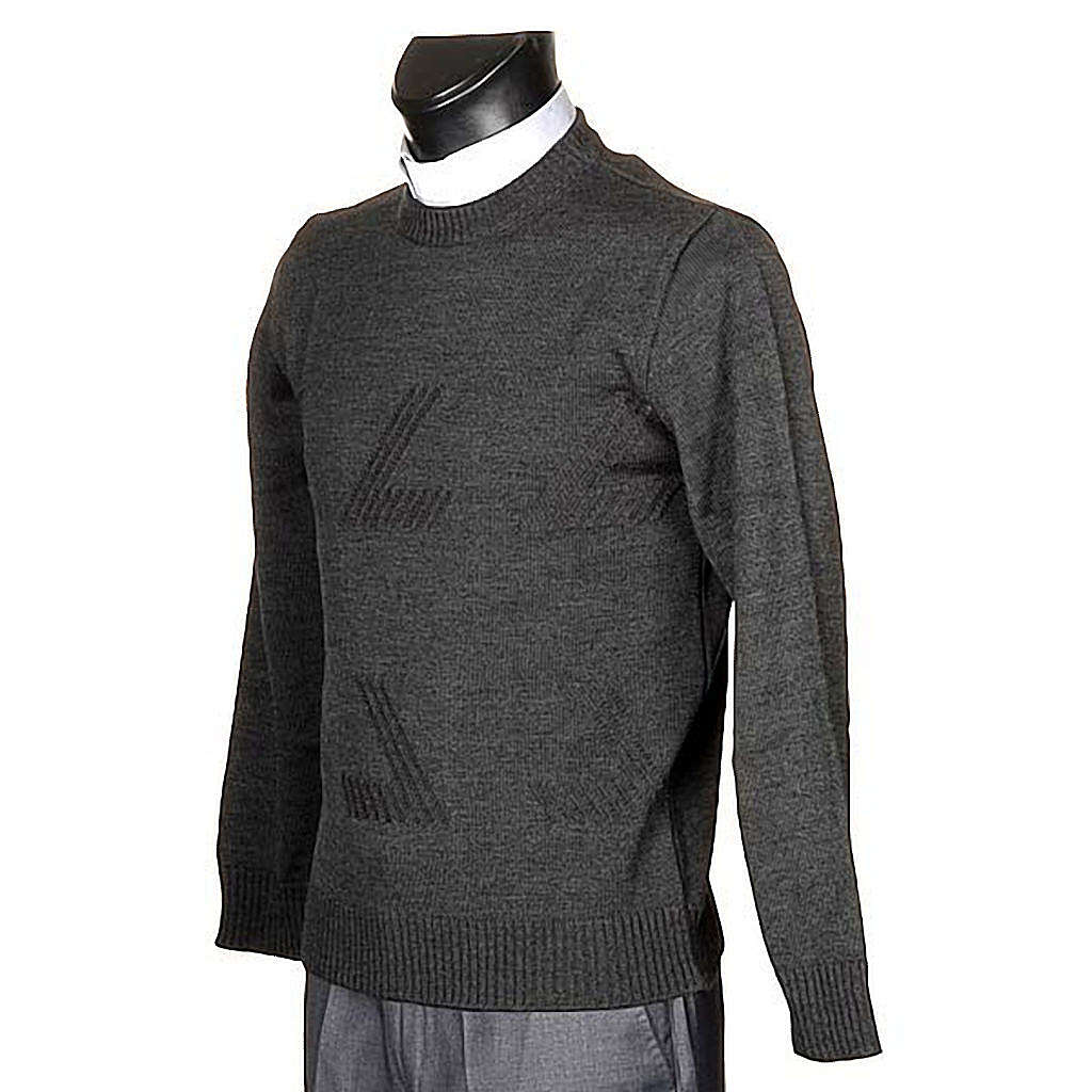 Woollen crew-neck pullover 4