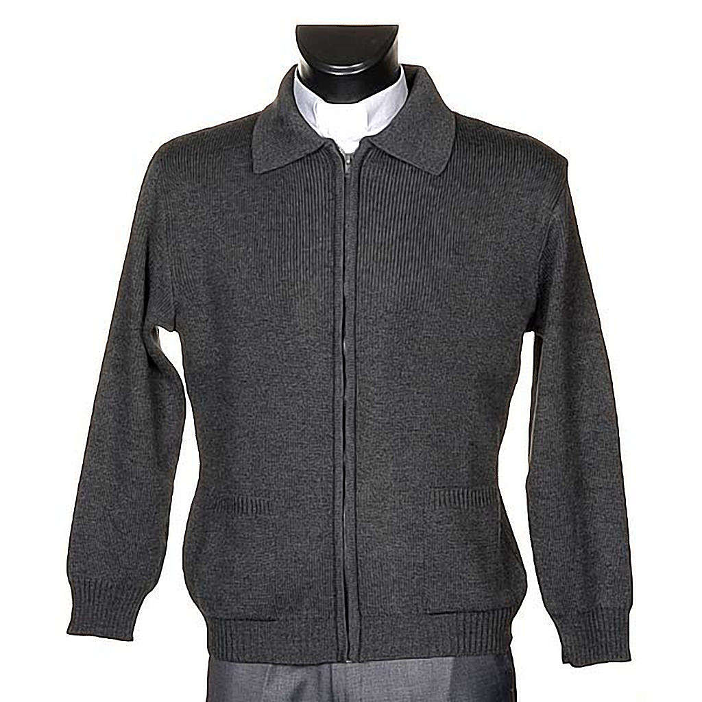 STOCK Polo-neck dark grey jacket 4