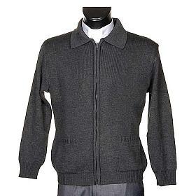 STOCK Polo-neck dark grey jacket s1