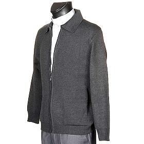 STOCK Polo-neck dark grey jacket s2