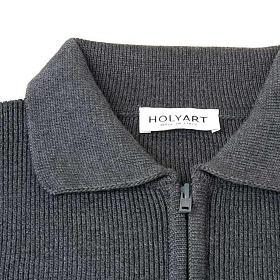 STOCK Polo-neck dark grey jacket s4