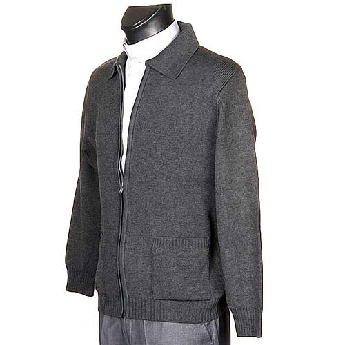 STOCK Polo-neck dark grey jacket 2