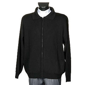 Polo-neck black jacket s1