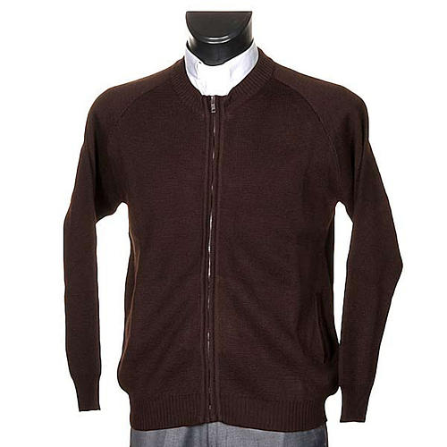 Habit jacket with zip and pockets 1