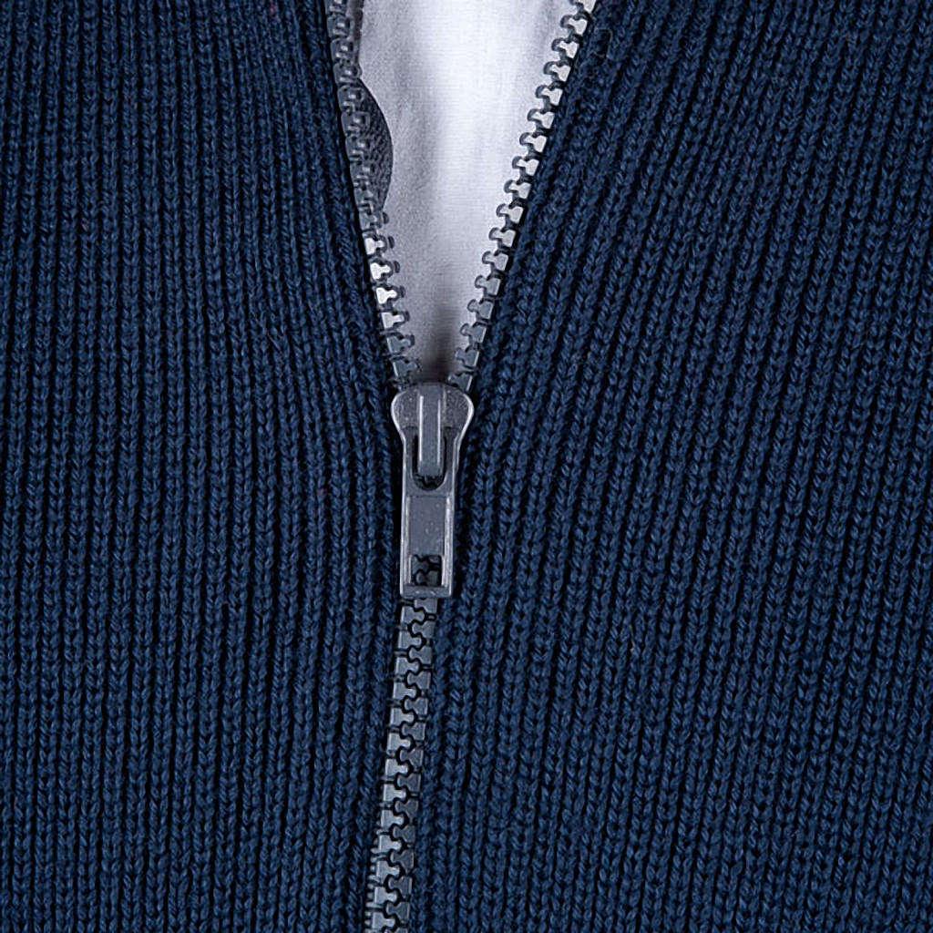 Giubbino collo alto a lupetto blu 4