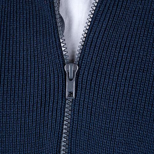 Giubbino collo alto a lupetto blu 2