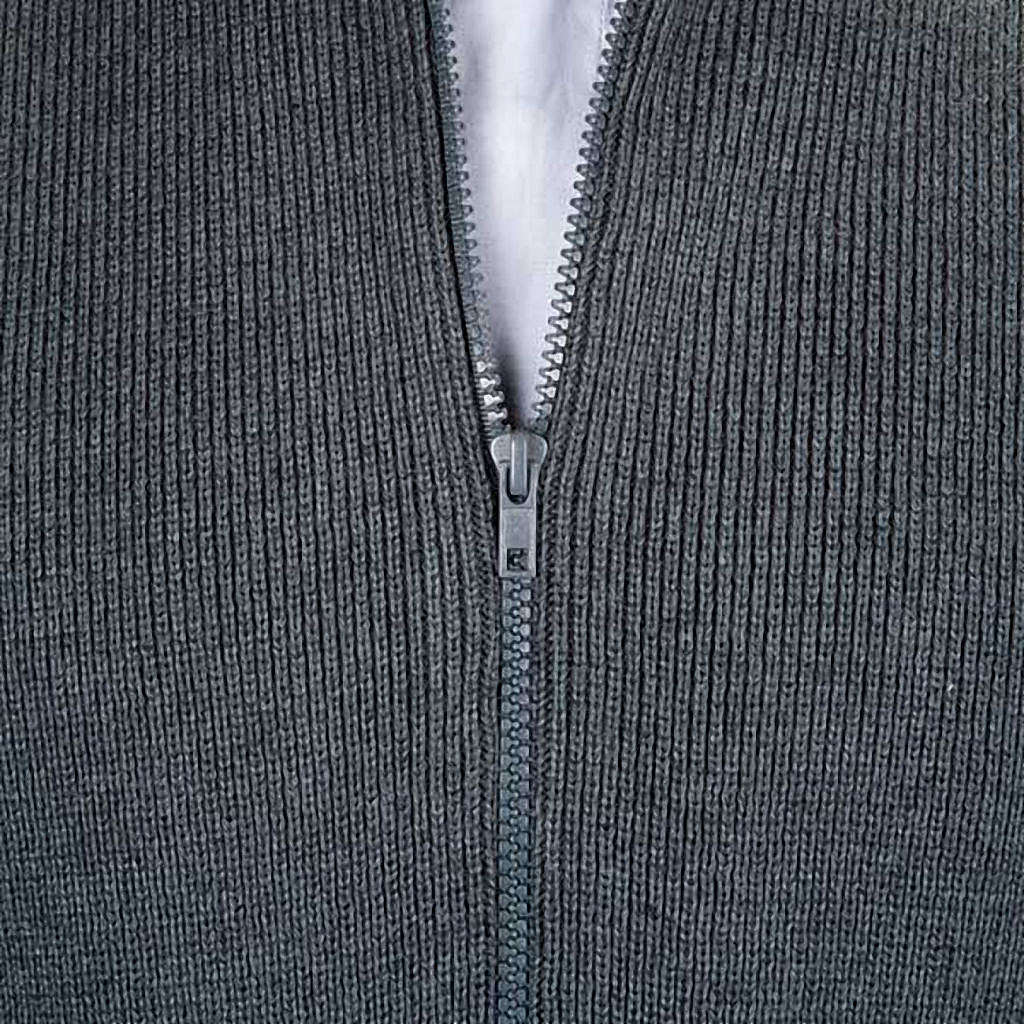 Chaqueta con cuello alto gris oscuro 4