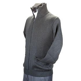 Chaqueta con cuello alto gris oscuro s4