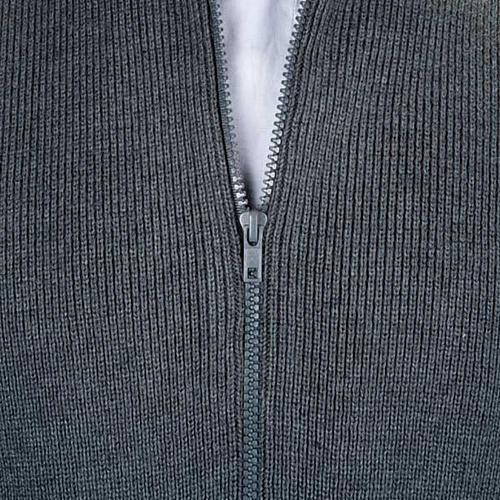 Chaqueta con cuello alto gris oscuro 2