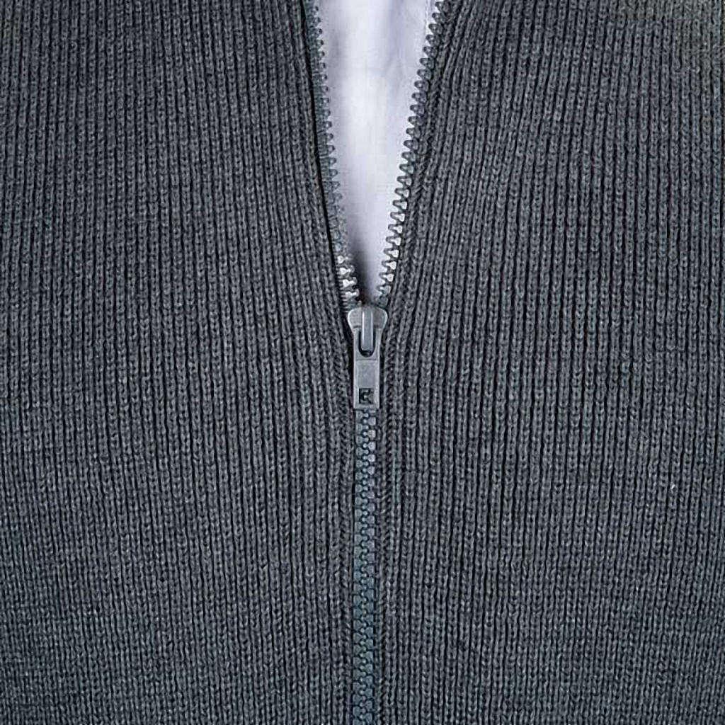 High-neck dark gray jacket 4