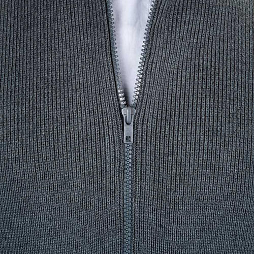 High-neck dark gray jacket 2