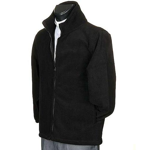 Polaire homme noir, zip et poches 2
