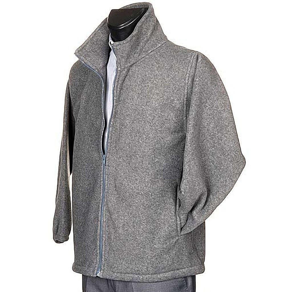 Polaire gris foncé, zip et poches 4