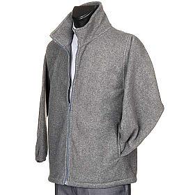 Polaire gris foncé, zip et poches s2