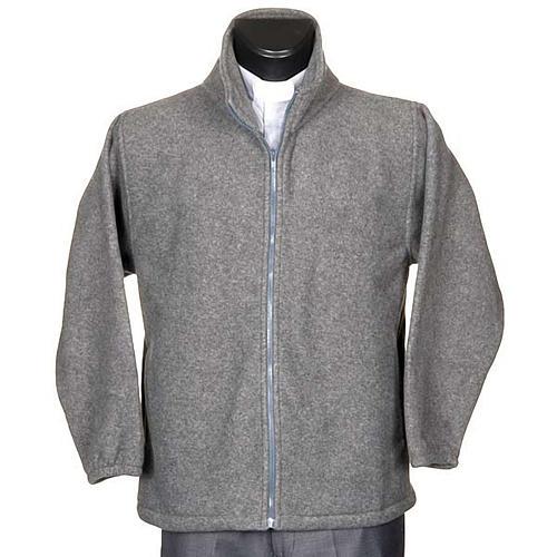 Polaire gris foncé, zip et poches 1