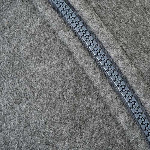 Pile grigio scuro con cerniera e tasche 3