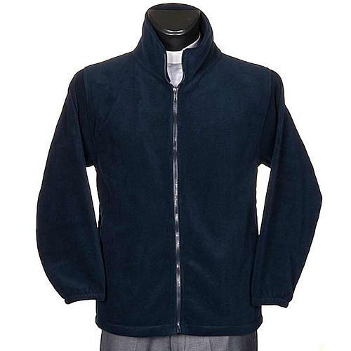 Polar azul con cremallera y bolsillos 1