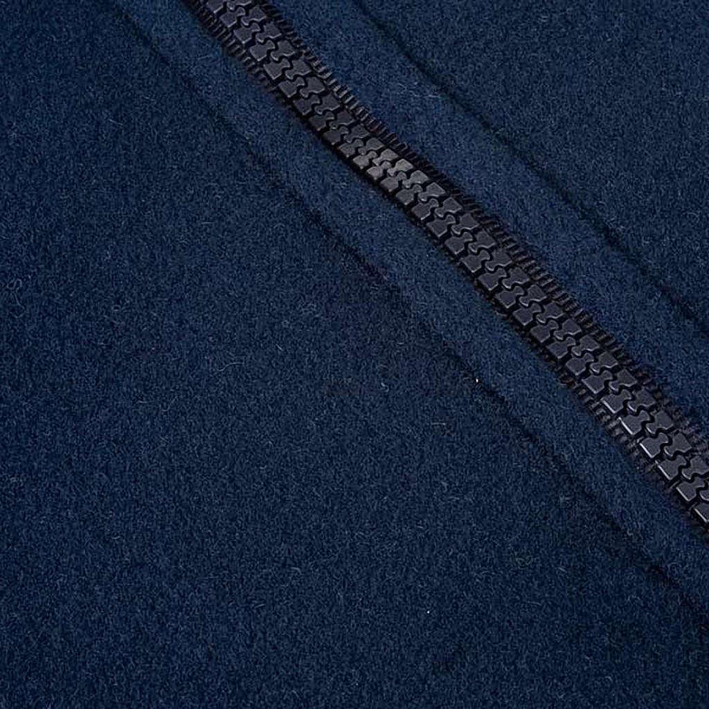 Pile blu con cerniera e tasche 4