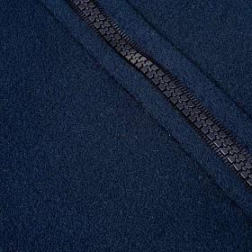 Pile blu con cerniera e tasche s3