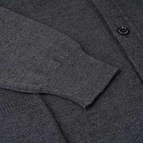 Jacke Wolle mit Knopfe dunkel Grau s4