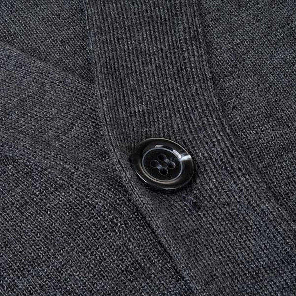 Dark grey woolen jacket with buttons 4