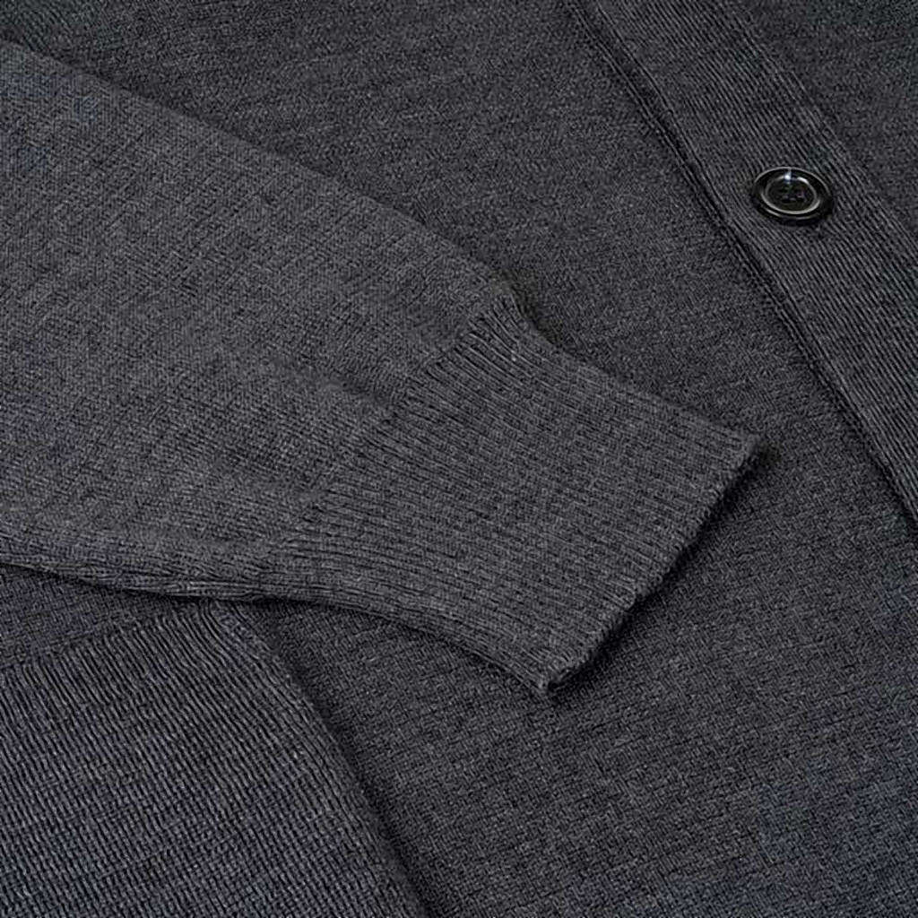 Giacca lana con bottoni grigio scuro 4