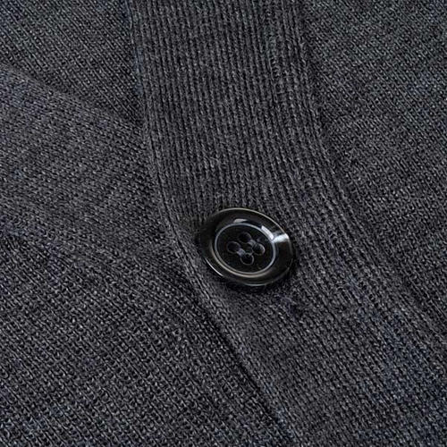 Dark grey woolen jacket with buttons 3