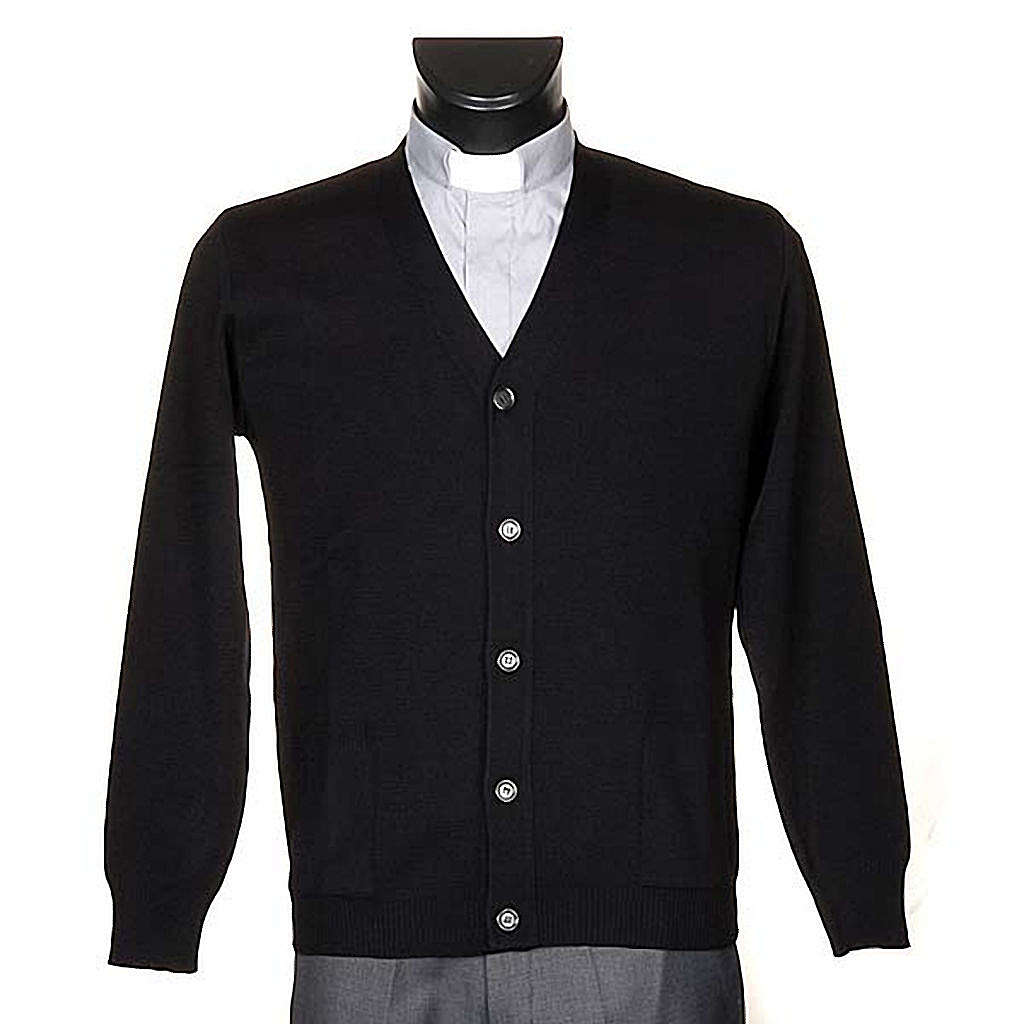 Black woolen jacket with buttons 4