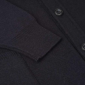 Black woolen jacket with buttons s4