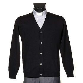 Cárdigan lana con botones negro s1
