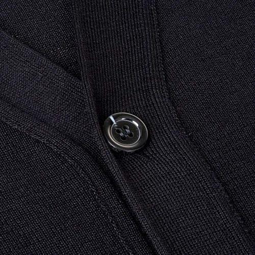 Cárdigan lana con botones negro 3