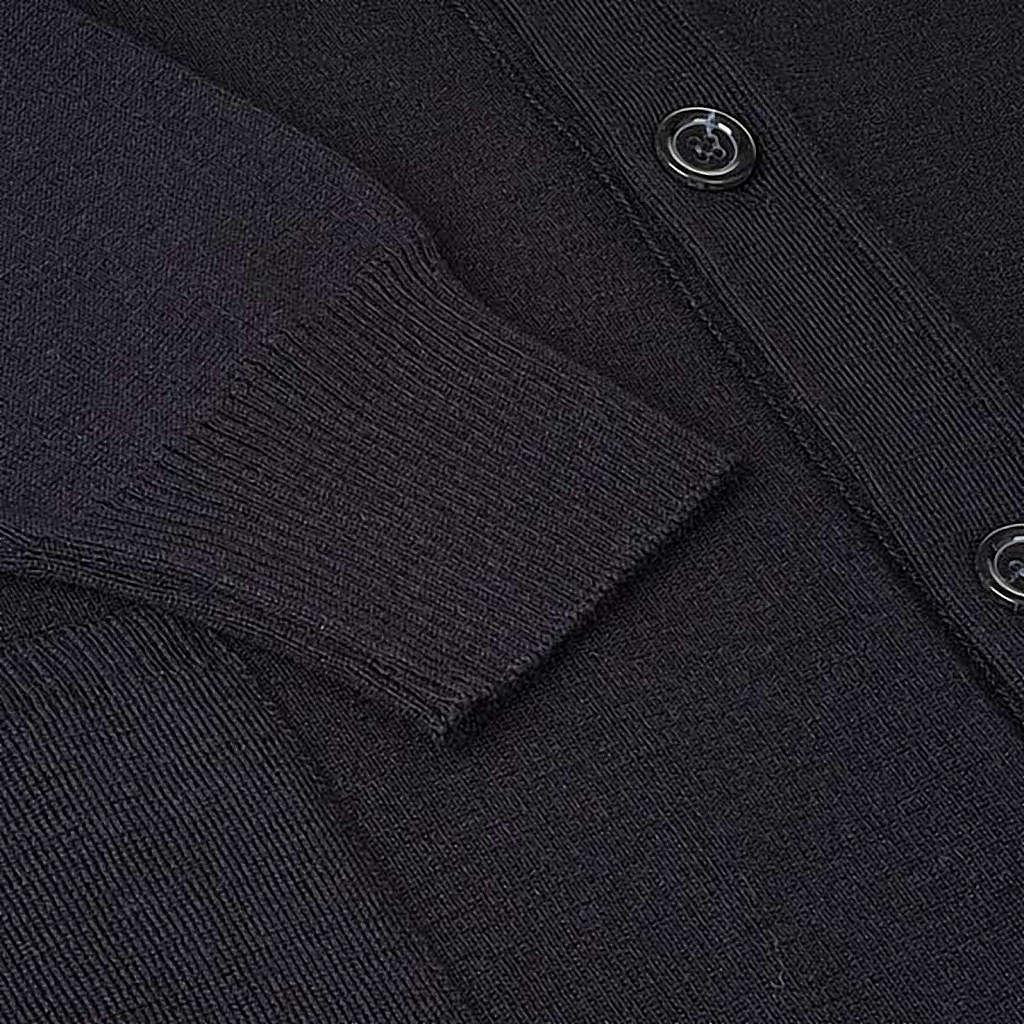 Veste en laine avec boutons,noir 4