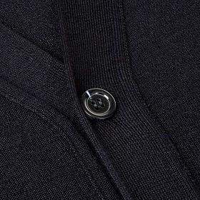 Veste en laine avec boutons,noir s3