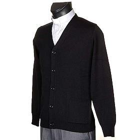 Giacca lana con bottoni nero s2