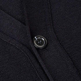 Giacca lana con bottoni nero s3